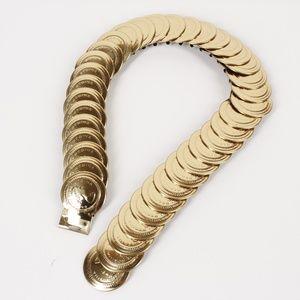 Vintage Gold Coin Stretch Belt